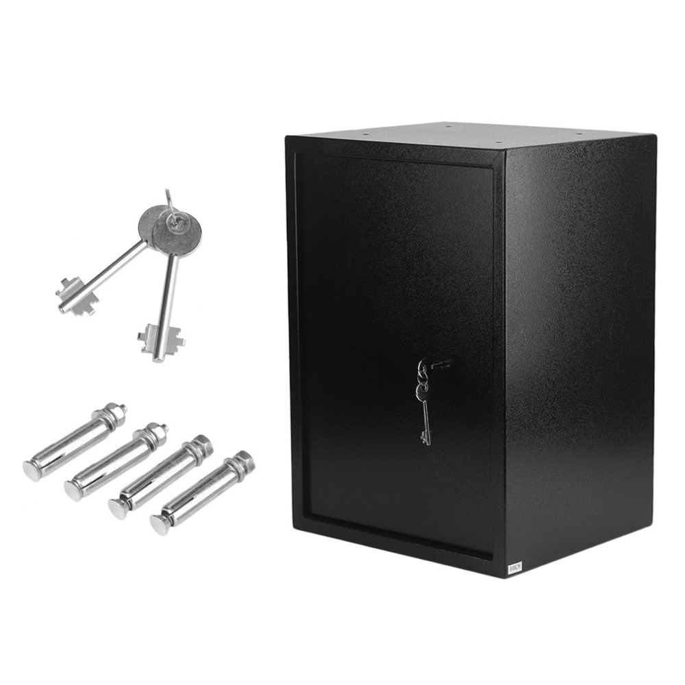 44.6L Large Volume Durable Home Jewelry Money Safety Box Key Lock Super Thick Steel Office Money Cash Security Box jewelry international volume v