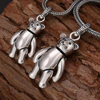NEW 100% 925 Silver Lovely Bear Pendant Necklace 925 Sterling Lover's Pendant Necklace Lovely Pendant