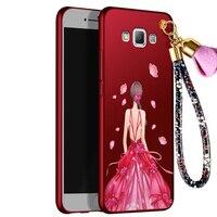 Moda karikatür kız vaka Için Samsung Galaxy A7 Bir 7 A7000 A7008 A7009 case arka kapak Bir 7000 7009 kabuk Ultra ince capas
