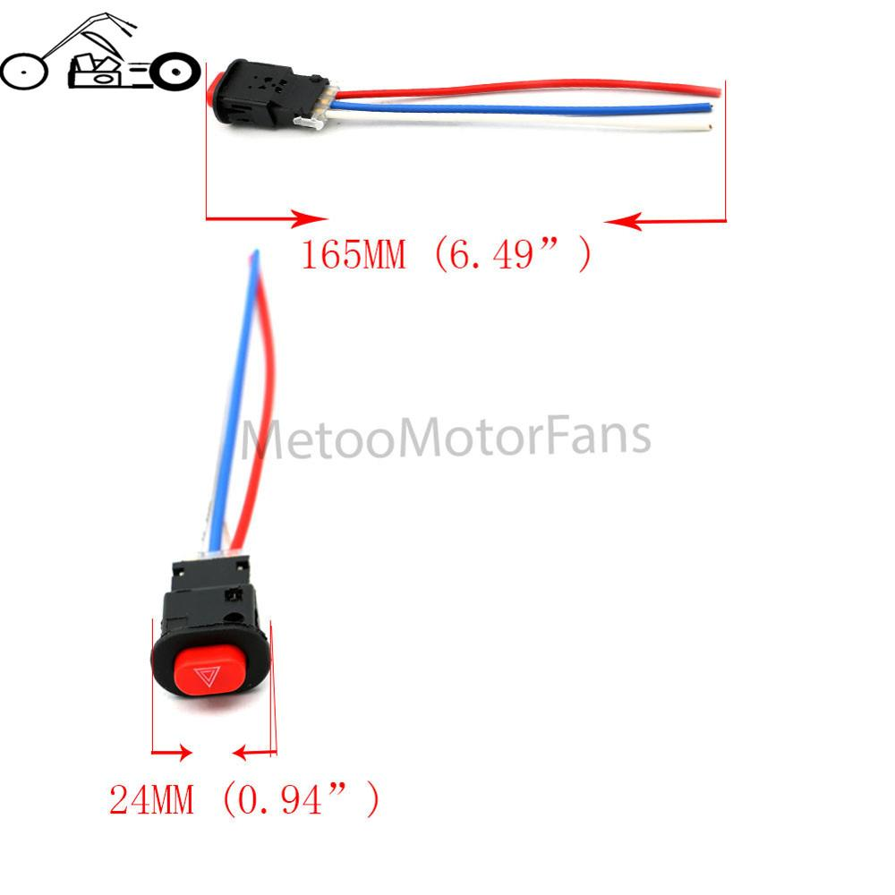 hight resolution of 3 wires double flash hazard switch ultra warning emergency lamp flasher light headlight switches buttom built in lock in motorcycle switches from