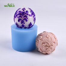 Three-dimensional  Silicone Ball Shaped Candle Soap Mould For Handmade Gift