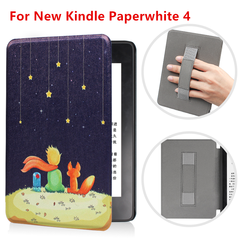 Wrist Rest Smart Case For New Amazon Kindle Paperwhite 4 Magnetic Flip Cover For Paperwhite 2018 Tablet Case For E-reader