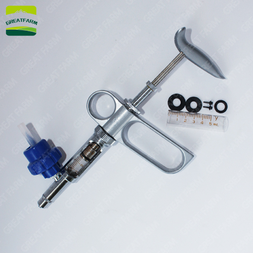 OJINYU Tiere Injektor 2ml Schlauch Abziehen Automatische selbstf/üllende Spritze Rinder Schweine Schweine Schafe