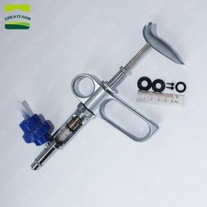 Image 5 - 2/5ml strzykawka automatyczna pistolet metalowa strzykawka automatyczna wtryskiwacz dla zwierząt gospodarskich świnia kurczak szczepionka strzykawka strzykawka