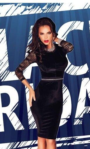 fashion 2017 long sleeve autumn winter dress women elegant bodycon dresses  Black Gold Sequin Mock Neck Midi Dress LC6908 on saleUSD 24.35 piece c84a0ff1f3a6