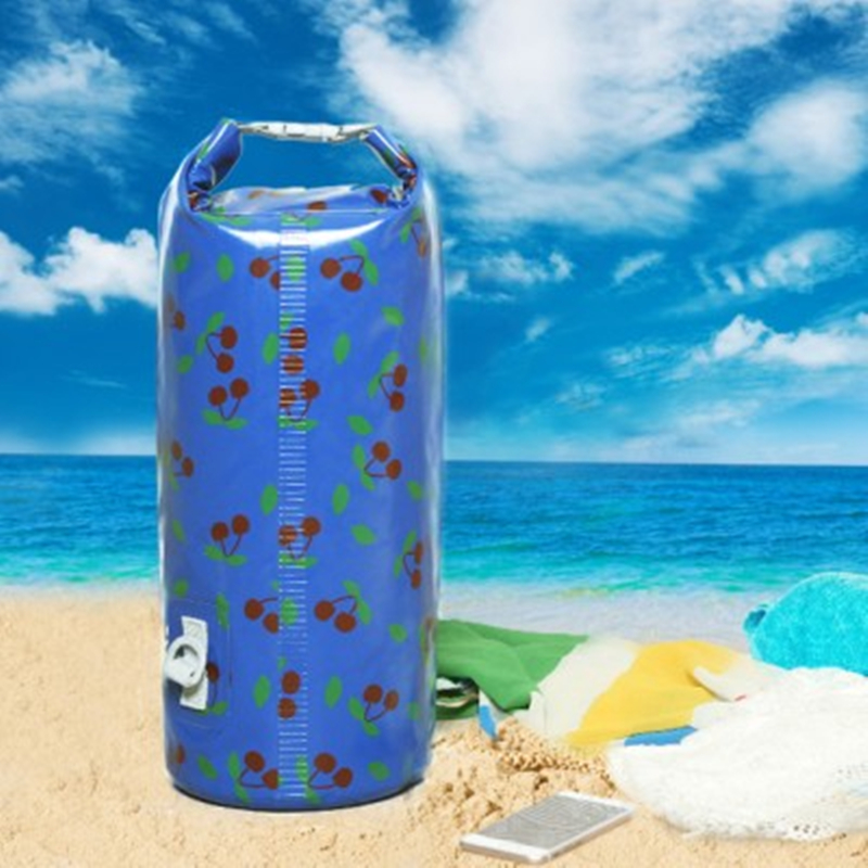 Outdoor Water Rafting Bag Cherry Design Thickening Sealing Mobile Phone Clothes Organizer Waterproof Bags 10L