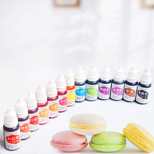 10ML Dyes Soap Making Coloring Set Liquid Kit Edible Colorants For DIY Plasticine Water Oil Dual Use Best Price
