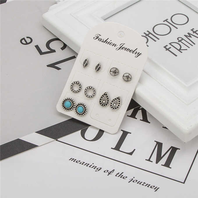 5 pairs /set  earringsNew fashion women's jewelry wholesale girls birthday party pearl earrings set mashup