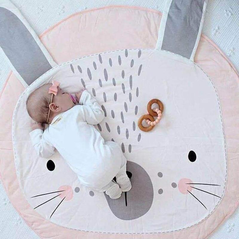 90 Cm Kids Play Game Matten Ronde Tapijt Tapijten Mat Katoen Dier Kruipen Deken Vloer Tapijt Kamer Decoratie Baby Geschenken Nieuw (In) Ontwerp;