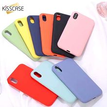 KISSCASE INS Hot Sale Candy Color Case For iPhone X XS7 8 6 S Plus 5 5S SE XS MAX XR Funda 7