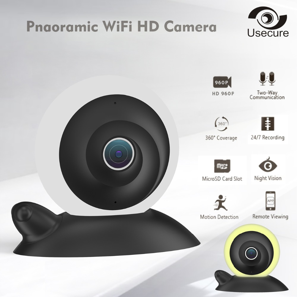 hd fisheye ip camera wi fi 960p 360 degree mini wifi. Black Bedroom Furniture Sets. Home Design Ideas
