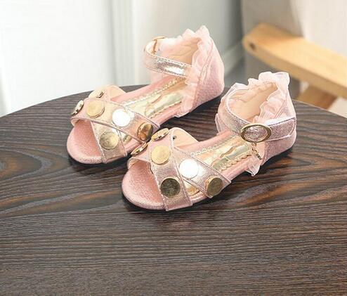 Children 1-12 Years Summer Sandals Girls Soft Childrens Sandals 2018 New Lace Princess Sandals Kids Sandals