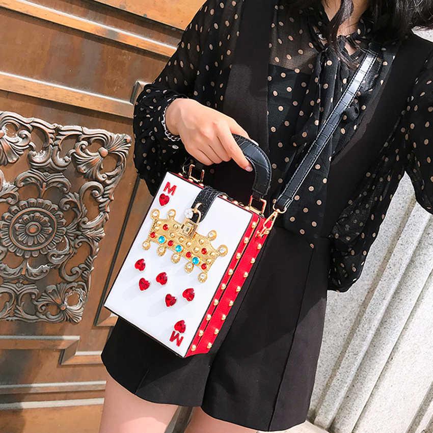 Toyooosky 2018 новая роскошная сумка через плечо популярные женские бриллианты королева кошелек высокого качества сумки вечерние сумки коробка клатч
