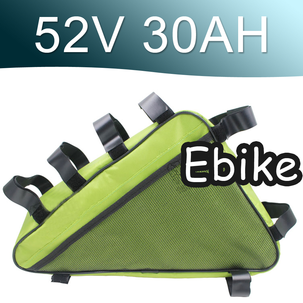 52V 30AH Triangle Lithium ion Battery Pack Long life cycle Super Power free shipping 48v 15ah battery pack lithium ion motor bike electric 48v scooters with 30a bms 2a charger