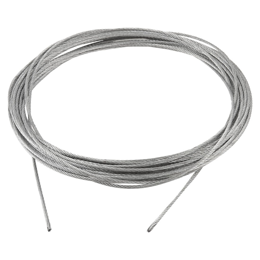 Grinding Machine Grinder 10m x 2mm Stainless Steel Wire Rope Cable Gray 1 2mm dia 7x7 5 2m long flexible stainless steel wire cable for grinder