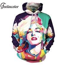 a756ab19d3a6 Feelincolor 3d Hoodies Marilyn Monroe Sweatshirt Men Women Comfortable  Outwear Personality Casual Men Women Streetwear