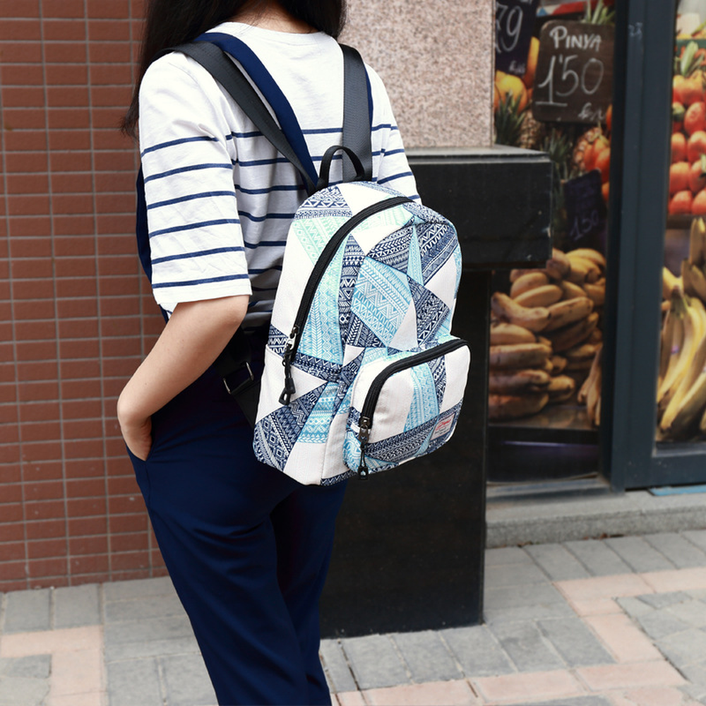 Backpack female new Korean version of the tide printing fashion backpack college bag travel
