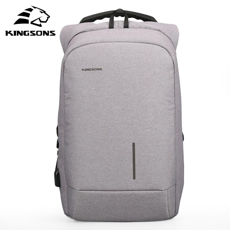 Kingsons Новое поступление 2017 года 15 ''внешний зарядка через USB ноутбука Рюкзаки школа рюкзак сумка Для мужчин Для женщин Дорожные сумки ks3149w