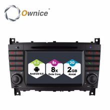 цена на Octa 8 Core Android 6.0 Car DVD Radio Player GPS Navigation for Mercedes Benz C CLK CLS CLC Class W203 W209 W219