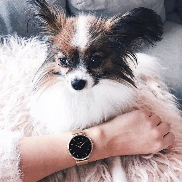 KLARF  Brand Luxury High quality Quartz Leather Wrist Bracelet Fashion Women Watch Ladies Wristwatch relojes mujer montre femme