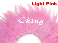 EMS free shipping 1kgs/lot light pink rooster saddle hackle feather strungs 15 20cm