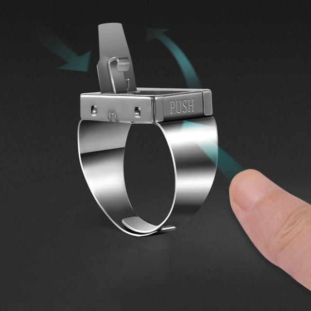b039603e9f8f Individualité corps garde anneau invisibilité ceinture couteau arme cachée  anneau lame articles hommes de combat arme