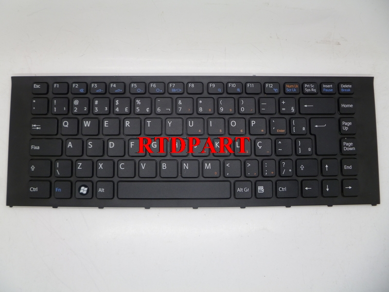 Laptop Keyboard For SONY VPC-EA Serials BR Black With Frame 148792361 VO81678D laptop keyboard for acer silver without frame bulgaria bu v 121646ck2 bg aezqs100110