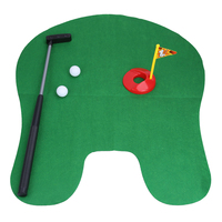 BS S New Toilet Bathroom Mini Golf Potty Putter Game Men S Toy Novelty Gift