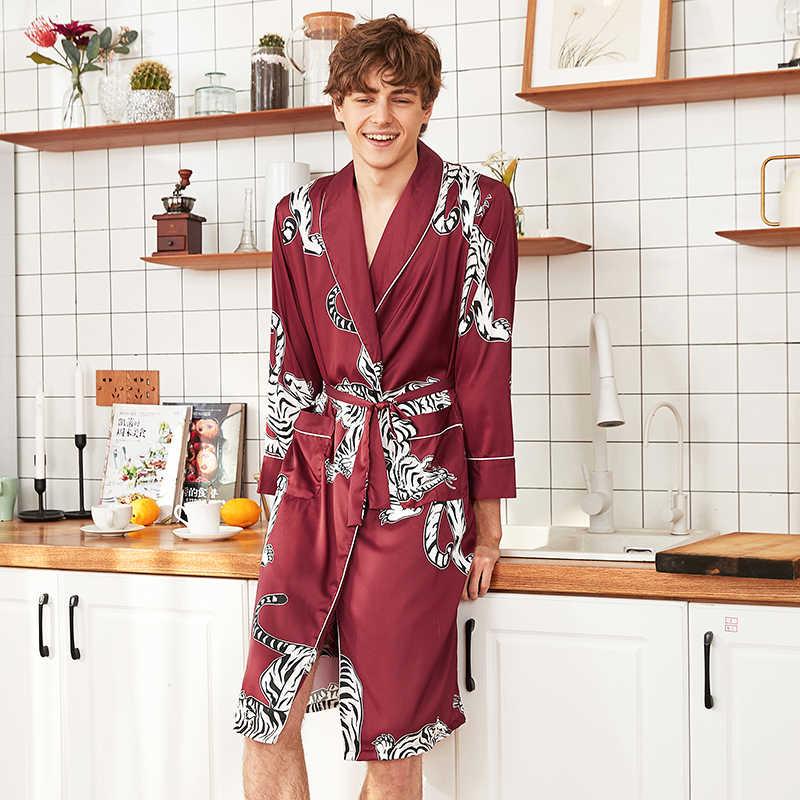 セクシーな花婿男性サテンウエディングローブ品質プリント着物芸者ガウン浴衣パジャマナイトウェアパンツショーツ L XL XX