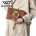 W.D. POLO Super pu bijoux buckle lady hand bag high chic design women love shoulder chain bags trendy fashion girl boutiqueM2208