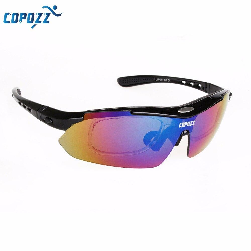 Prix pour Copozz Marque Polarisées vélo/vélo/vtt/vtt cyclisme lunettes/lunettes/lunettes 100% anti-uv 5 lentilles