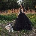 Мода Длинные Тюль Юбки Черный Девушки Длинные Юбки Пухлые Мульти Слои Линия S-5XL Модные Faldas Юбки Бесплатная Доставка