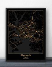 Плимут чтение Шеффилд Саутгемптон свиндон Йорк Англия карта
