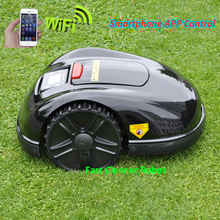 Two Year Warranty Smartphone APP Contorl Robot Auto Grass Cutter With 13.2AH Li-ion Battery+300m wire+300pcs pegs+20pcs Blade