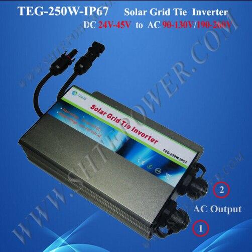 цена на Great sale grid tie 250w 36v waterproof inverter