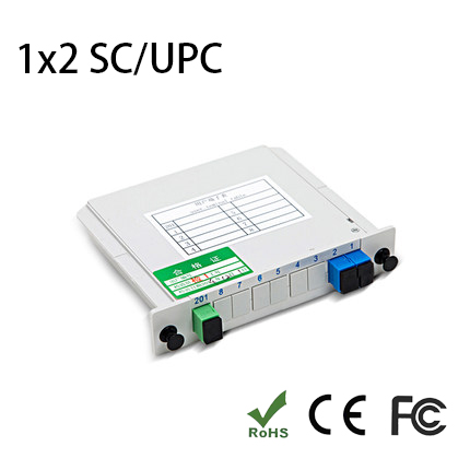 SC/UPC 1*2 Module PLC Fiber Optical Splitter SC/FC/ST/LC Connector PLC Splitter SC/UPC