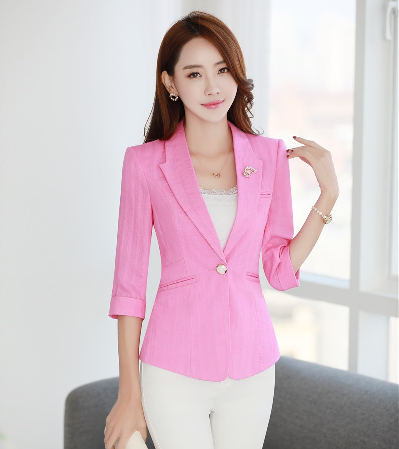 Pink Womens Blazer Promotion-Shop for Promotional Pink Womens ...