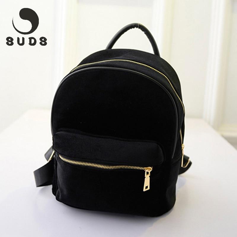 где купить SUDS New Small Women'S Backpacks For Teenage Girls 2017 Mochila Feminina Vintage Mini Rucksack Women Backpack For School Solid по лучшей цене