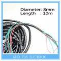 Impressora 3d de alta qualidade peças diâmetro 8 mm 33ft. ( 10 M ) Spiral Cable Wire Wrap tubo PC gerenciar Cord 10 mm preto frete grátis