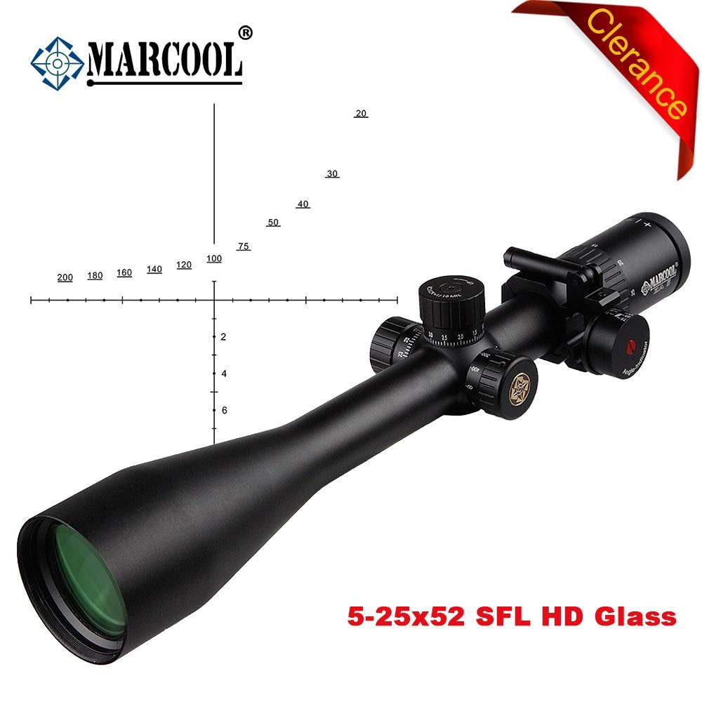 MARCOOL 5 25X52 SFL HD Glasses AK Tactical Airsoft Sports Optical Rifle Scopes Collimator Riflescope