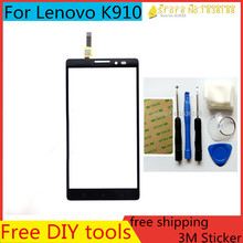 Free DIY Tools+Original New Touch Screen for Lenovo k910 Glass Capacitive sensor for Lenovo k910 Touch Screen panel Black