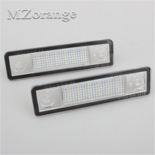 цена на 2Pcs Car 18 LED License Plate Lights 12V White Number Plate Lamp for Zafira A Vectra B For Omega A Opel Astra G Astra F Corsa B