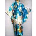 New Fashion Japanese Female Vintage Silk Kimono Sexy Yukata With Obi Evening Dress Pinted Costume Free Shipping One Size H015