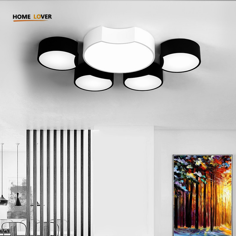 Modern Led Ceiling Chandeliers For Living Room Bedroom Square/Rectangle White/Black Home Dec Modern Led Chandelier Fixtures white black modern led ceiling lights for living room bedroom square rectangle home dec modern led ceiling lamp free shipping