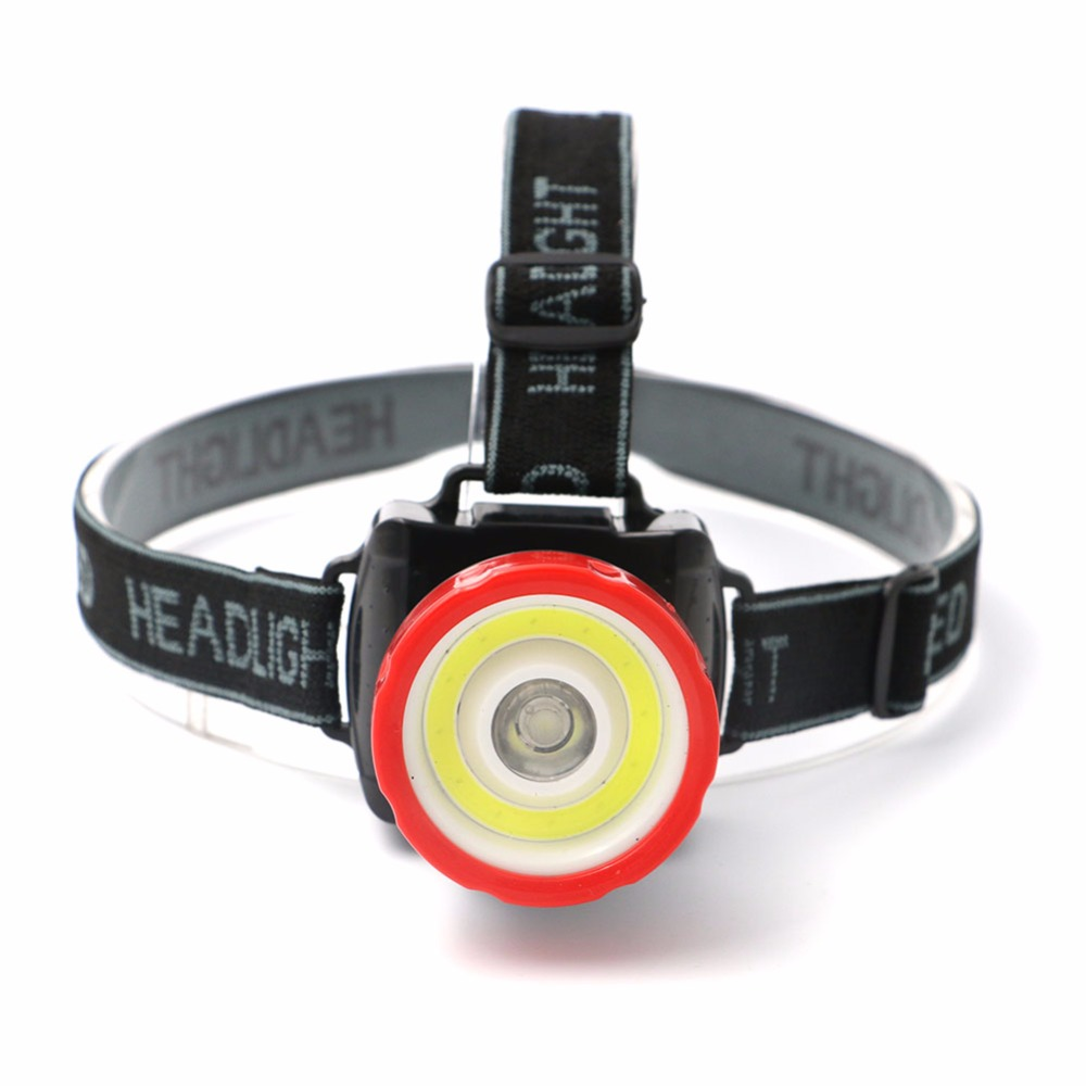 цены Super Bright 2 Modes Portable COB+LED Headlamp Headlight Use 3aaa Battery Head Lamp For Outdoor Activitity LED Headlight
