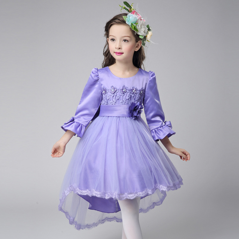 Girls Dresses for Party and Wedding Summer Princess Dresses Clothes  Fashion bridesmaid Flower kids Dress Evening Party Costume summer dresses for girls 2016 kids clothes evening party princess dress children flower wedding vestido coat 2 piece set
