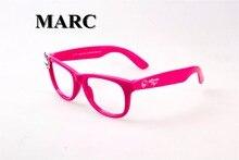 MARC UV400 sunglasses purple girls Women square Wrap Plastic Kid Children Without the lens Pink Black