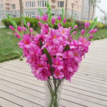 HOT Fake Single Stem Gladiolus Artificial Flowers Gladioluses for Wedding Home Party Decorative Flowers 8 Colores цена