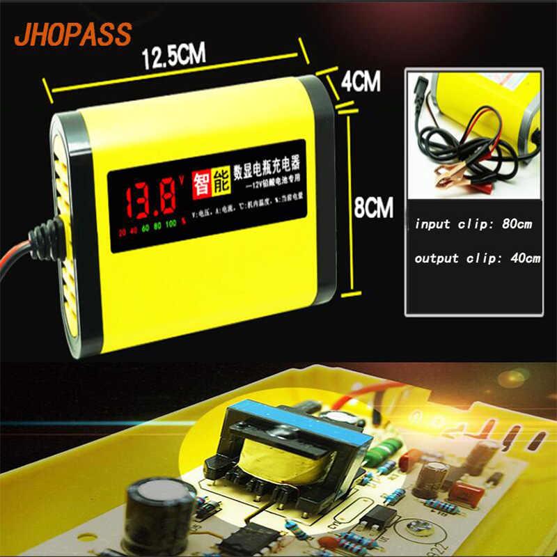 12 V 2A màn hình LCD hiển thị thông minh lead acid Sạc dành cho 4AH để 20AH Xe Máy/Ô Tô/E- xe đạp pin Khô/Nước/Gel pin sạc
