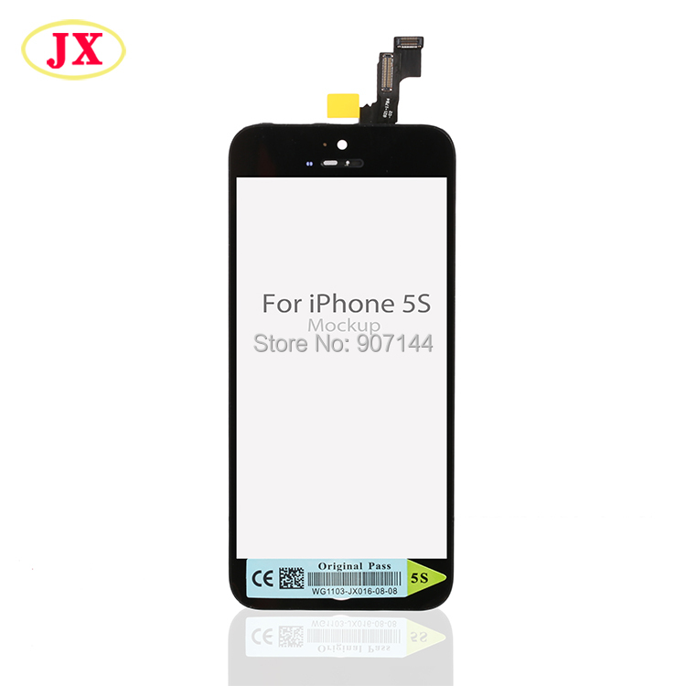 10pcs lot Black white Test one by one For iphone 5S LCD Screen Display with Touch
